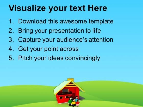 build a dream home for your family powerpoint templates ppt, Modern powerpoint