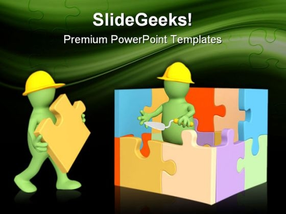 Build House Real Estate PowerPoint Themes And PowerPoint Slides 0511