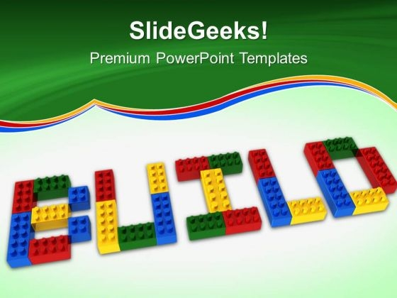 Build Lego Education Construction PowerPoint Templates And PowerPoint Themes 0612