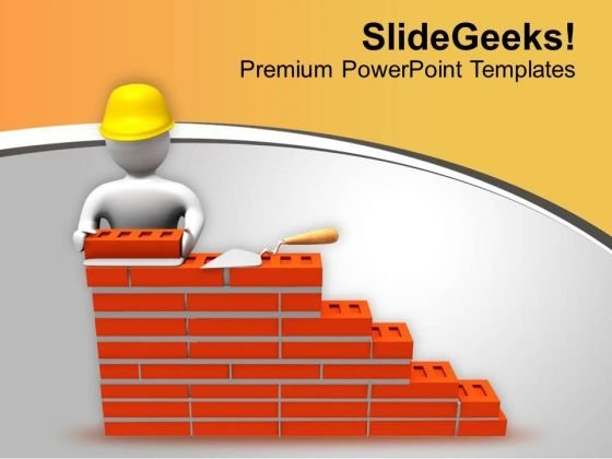 Build The Wall Of Fame PowerPoint Templates Ppt Backgrounds For Slides 0613