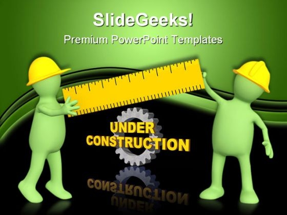 Builders With Ruler Construction PowerPoint Templates And PowerPoint Backgrounds 0511