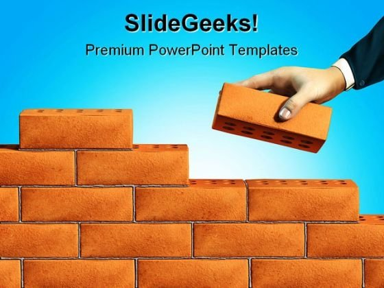 Building Base Business PowerPoint Template 0810