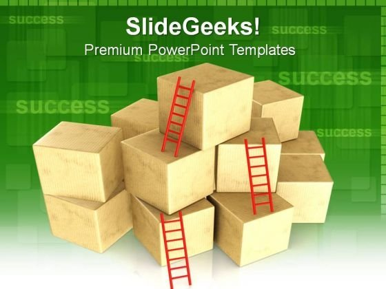 Bunch Of Boxes Shapes PowerPoint Templates And PowerPoint Themes 0812