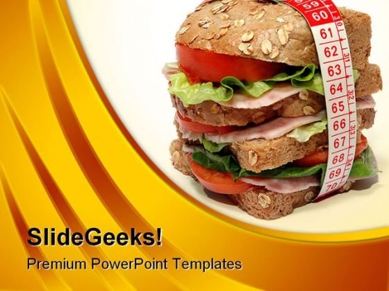 Burger And Diet Concept Health PowerPoint Templates And PowerPoint Backgrounds 0211