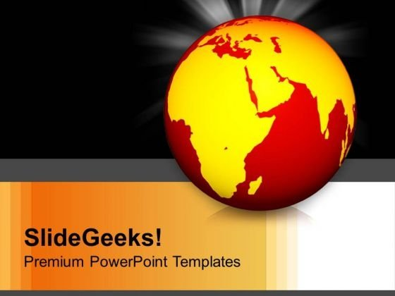 Burning World Warm Globe Ecology PowerPoint Templates And PowerPoint Themes 1012