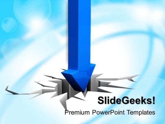 Business Arrow Cracking Surface PowerPoint Templates And PowerPoint Themes 0912