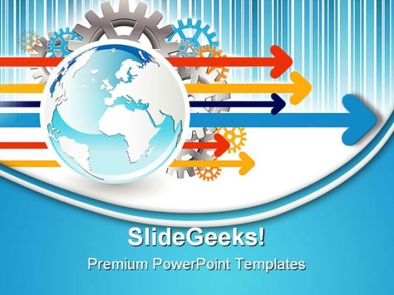 Business Arrows Globe PowerPoint Templates And PowerPoint Backgrounds 0411