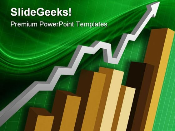 Business Bar Graph Arrow Success PowerPoint Themes And PowerPoint Slides 0511