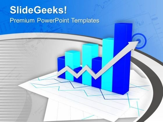Business Bar Graph For Growth Rate PowerPoint Templates Ppt Backgrounds For Slides 0613