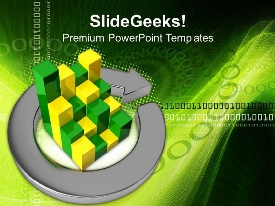 Business Bar In Metallic Arrows PowerPoint Templates And PowerPoint Themes 0712
