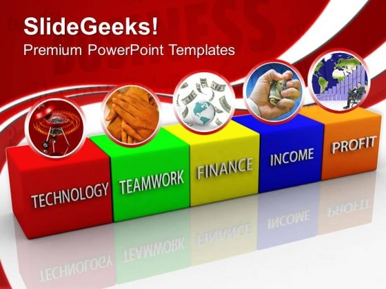 Business Blocks Income Teamwork PowerPoint Templates And PowerPoint Themes 0712