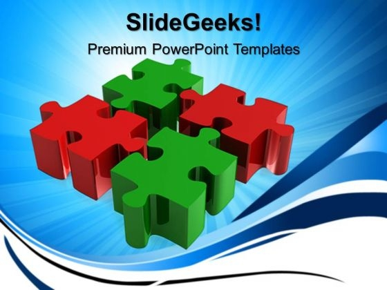 Business Blocks Puzzle Teamwork PowerPoint Templates And PowerPoint Themes 0612