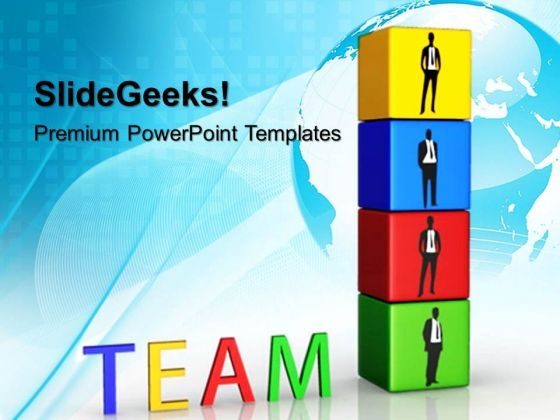 Business Blocks Teamwork PowerPoint Templates And PowerPoint Themes 0712