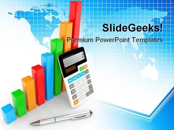 Business Chart Showing Finance PowerPoint Themes And PowerPoint Slides 0411