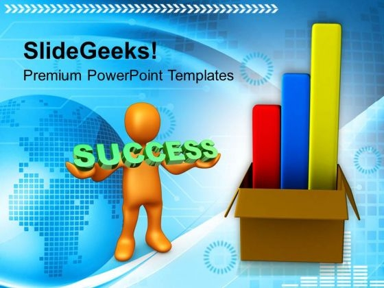 Business Charts Coming Out Of Box Success PowerPoint Templates Ppt Backgrounds For Slides 0113