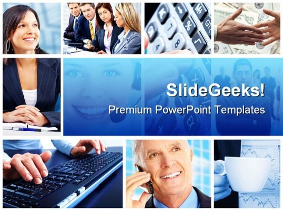 Business Collage People PowerPoint Template 0910