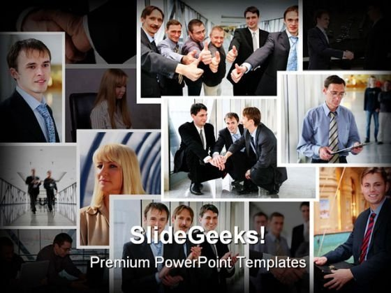 Business Collage Success PowerPoint Templates And PowerPoint Backgrounds 0511