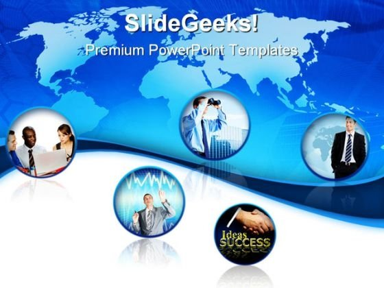 Business Collage Success PowerPoint Themes And PowerPoint Slides 0411