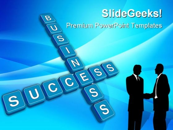 Business Concept Crossword Success PowerPoint Themes And PowerPoint Slides 0411