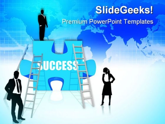 Business Concept Success PowerPoint Templates And PowerPoint Backgrounds 0411