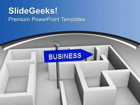 Business Concept With Labyrinth PowerPoint Templates Ppt Backgrounds For Slides 0213