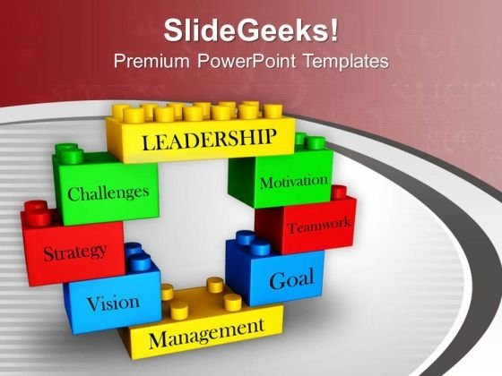Business Concepts Presented On Blocks PowerPoint Templates Ppt Backgrounds For Slides 0713