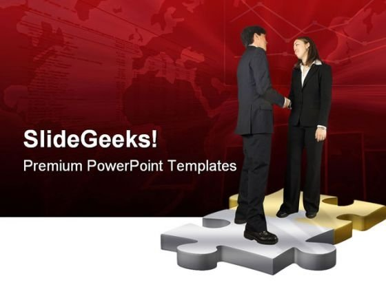 Business Couple Handshake PowerPoint Themes And PowerPoint Slides 0511