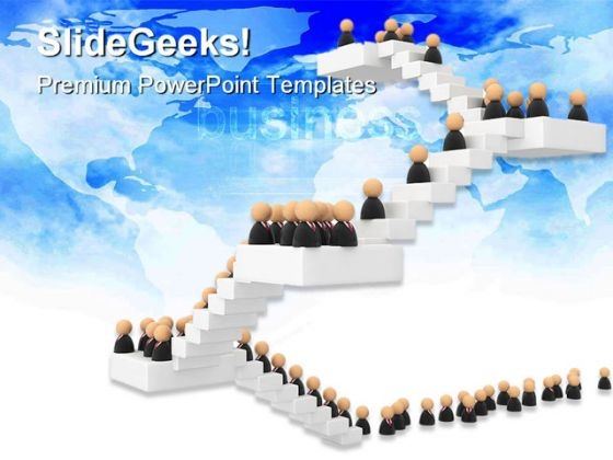 Business Crowd Success PowerPoint Themes And PowerPoint Slides 0511