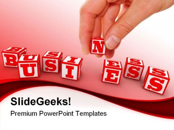 Business Cubes Shapes PowerPoint Backgrounds And Templates 0111
