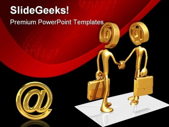 Business E Mail Internet Handshake PowerPoint Themes And PowerPoint Slides 0511