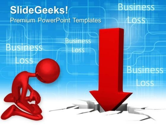Business Failure Concept PowerPoint Templates And PowerPoint Themes 1012