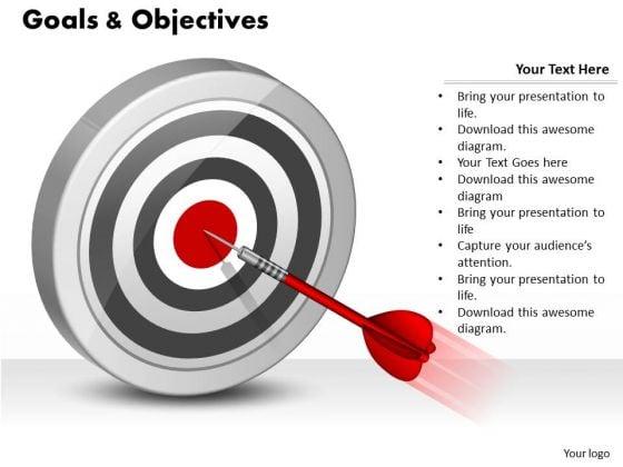 Business Framework Model Business Goals And Objectives 3 Business Diagram