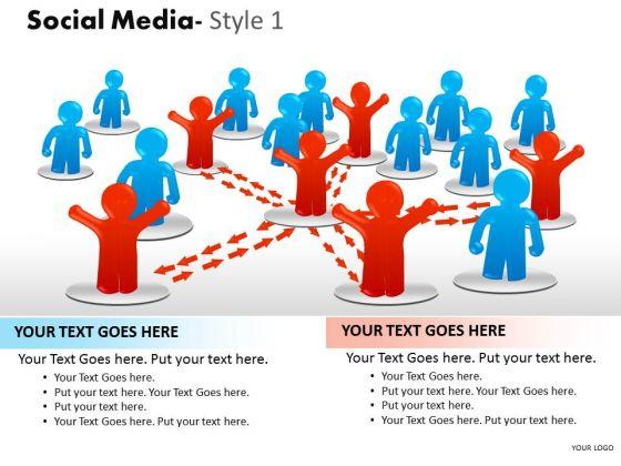Business Framework Model Social Media Style 1 Diagram Strategy Diagram