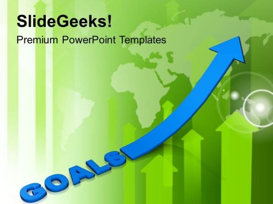 Business Goals And Success With Upward Arrow PowerPoint Templates Ppt Backgrounds For Slides 0513
