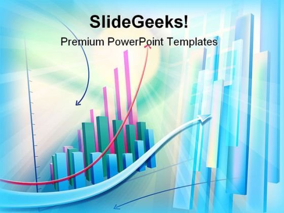 Business Graph Abstract PowerPoint Themes And PowerPoint Slides 0211