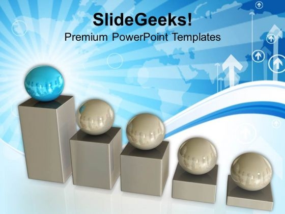 Business Graph And Spheres Leader Teamwork PowerPoint Templates Ppt Backgrounds For Slides 0213