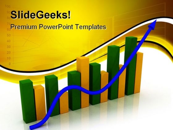 Business Graph Arrow Symbol PowerPoint Templates And PowerPoint Backgrounds 0511
