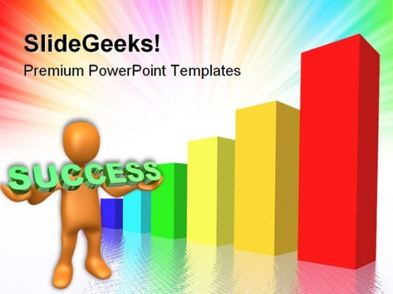Business Graph Diagram Success PowerPoint Themes And PowerPoint Slides 0511