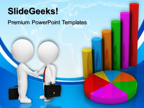 Business Graph Handshake PowerPoint Templates And PowerPoint Themes 0512