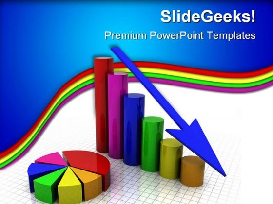 Business Graph Loss Finance PowerPoint Templates And PowerPoint Backgrounds 0411