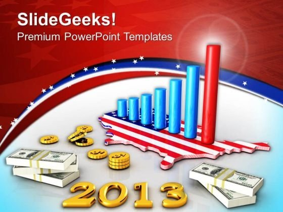 Business Graph With Dollar Money Americana PowerPoint Templates Ppt Backgrounds For Slides 1112