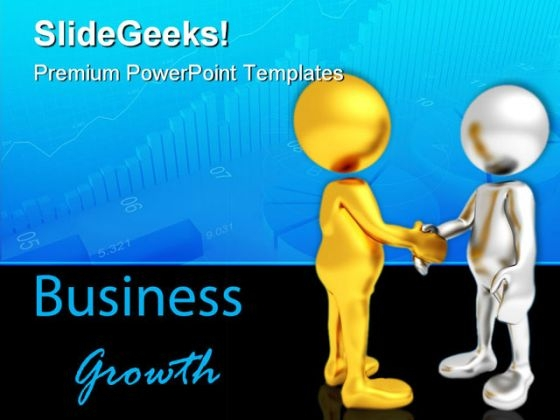 Business Growth Handshake PowerPoint Themes And PowerPoint Slides 0711