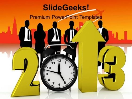 Business Growth In New Year Leadership PowerPoint Templates Ppt Backgrounds For Slides 1212