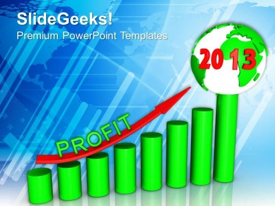 Business Growth New Year Concept PowerPoint Templates Ppt Backgrounds For Slides 1112