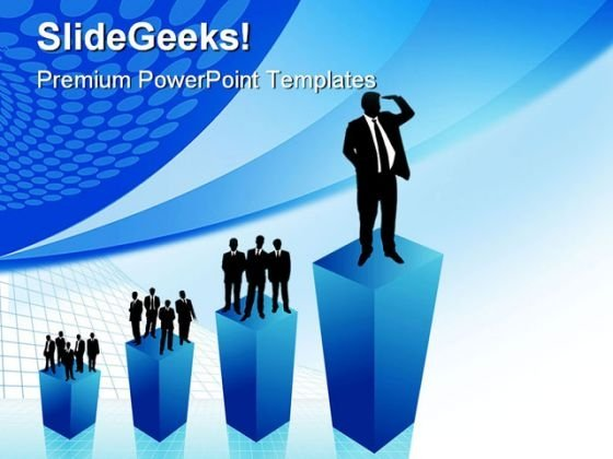 Business Growth People PowerPoint Templates And PowerPoint Backgrounds 0411