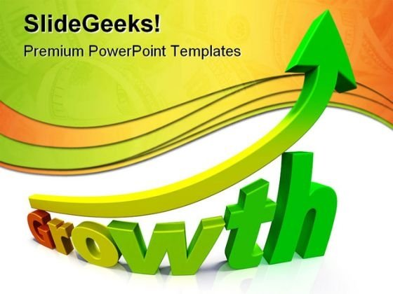 Business Growth Success Gradient PowerPoint Themes And PowerPoint Slides 0511