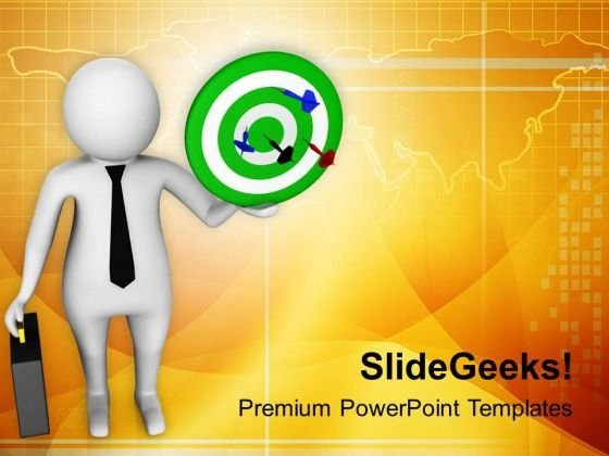 Business Hit The Target PowerPoint Templates Ppt Backgrounds For Slides 0613