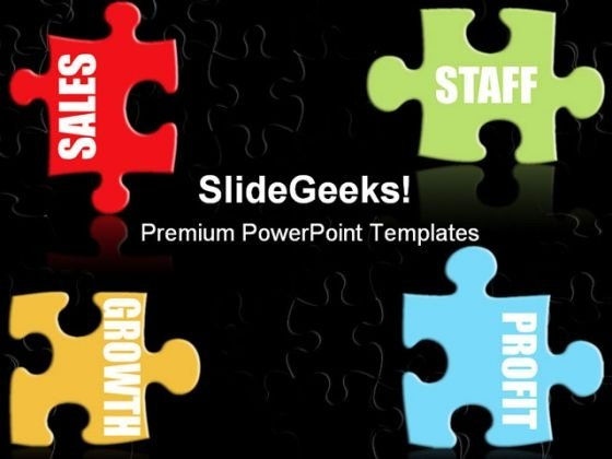 Business Jigsaw Metaphor PowerPoint Templates And PowerPoint Backgrounds 0711
