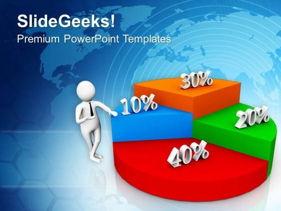 Business Man Explaining Profit Sharing Ratio PowerPoint Templates Ppt Backgrounds For Slides 0713