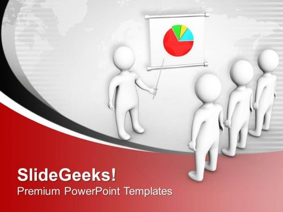 Business Man Presenting Sales Chart PowerPoint Templates Ppt Backgrounds For Slides 0413